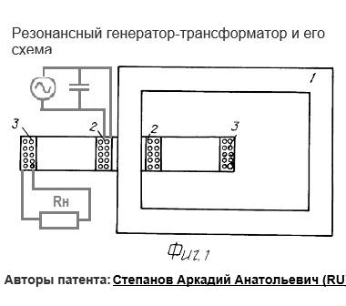 Резонансный трансформатор Степанова